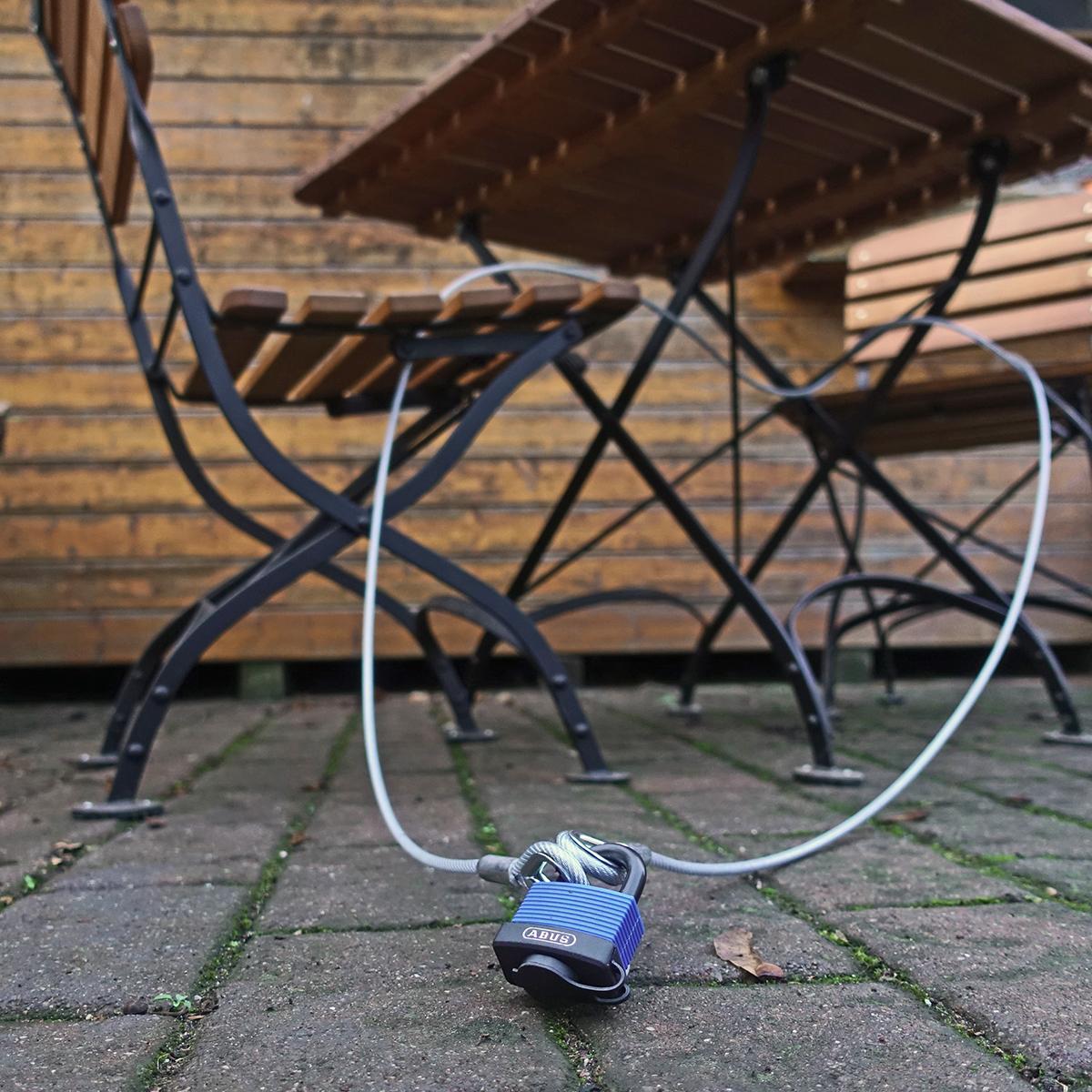 Warensicherung Sicherungsseil Kauschen PVC ummantelt 1m 2m 3m 4m 5m 8m 10m 20m