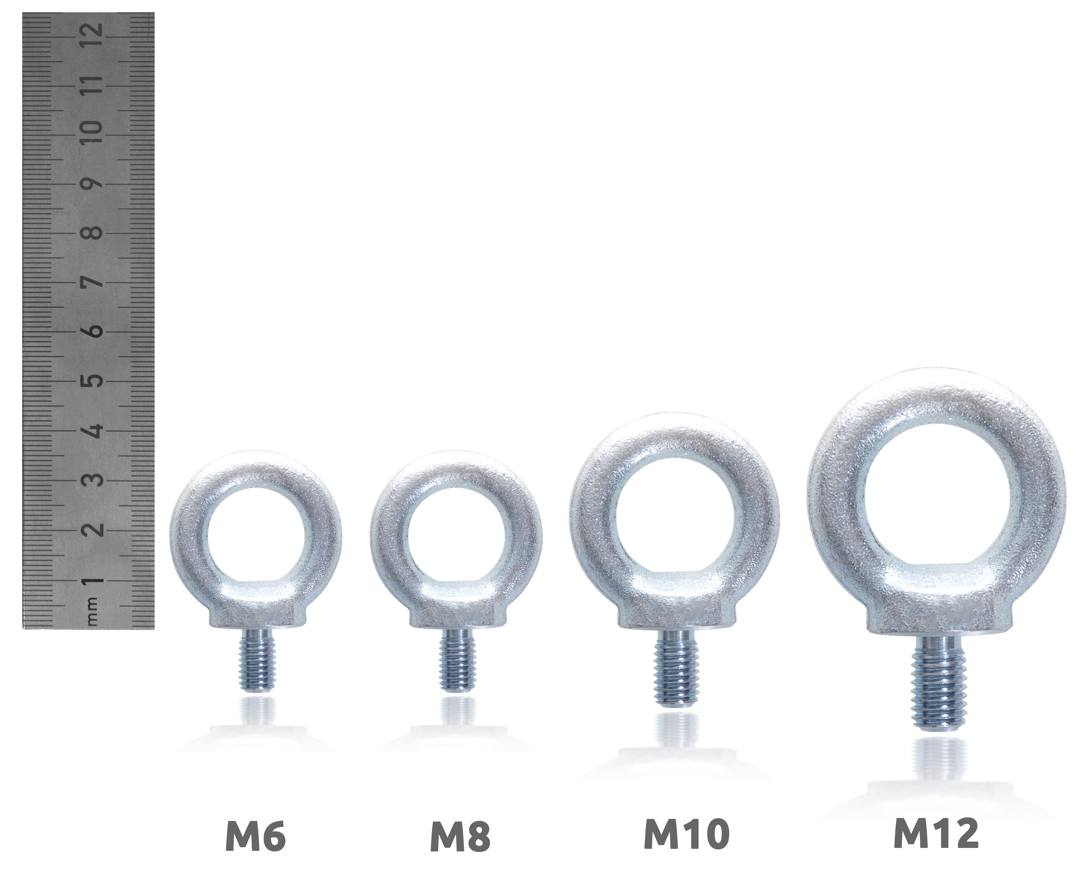 10x Ringschrauben M6 Ringschraube 6mm Ösenschraube verzinkt DIN 580