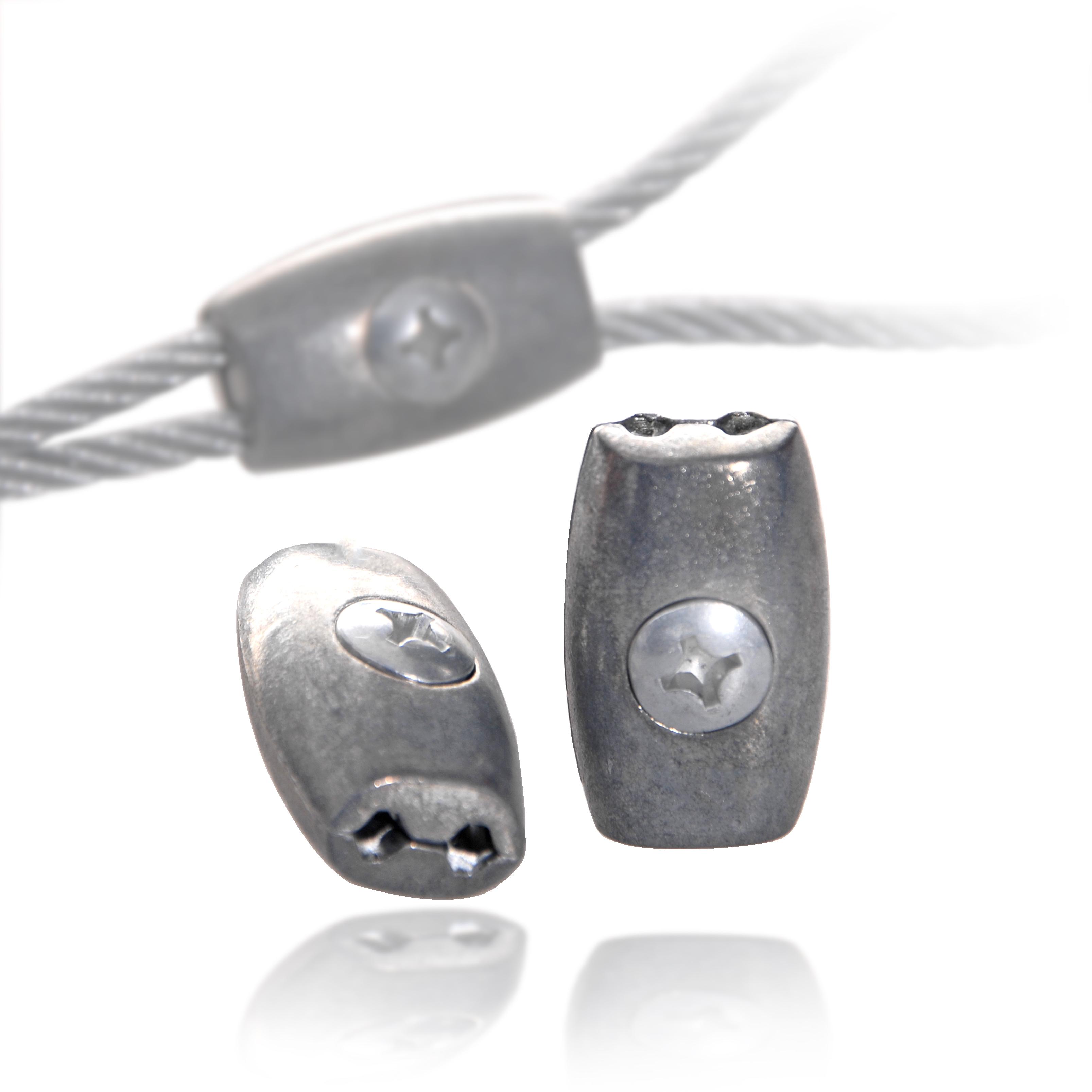 Drahtseilklemmen Eiform 2mm EDELSTAHL Seilklemme Drahtseilklemme Drahtseil V4A
